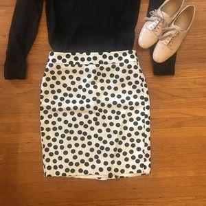 Ann Taylor Polka Dot Pencil Skirt